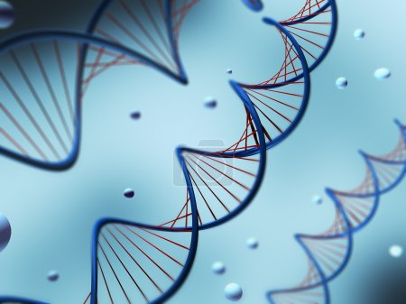 Photo for Illustration of a DNA with shallow DOF - Royalty Free Image