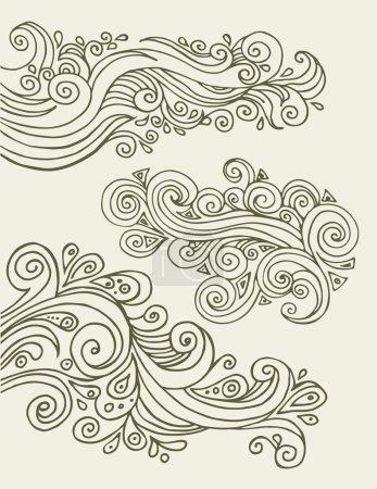 Illustration for Doodles design elements - Royalty Free Image