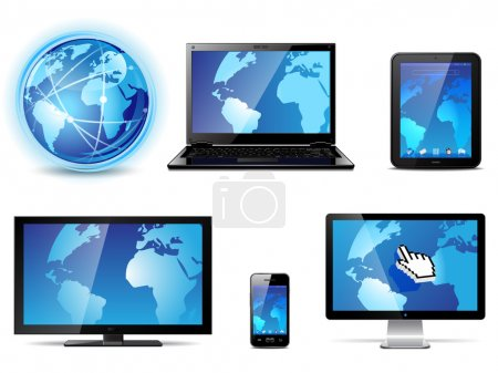 Photo for Set of different electronic devices. Vector illustration - Royalty Free Image