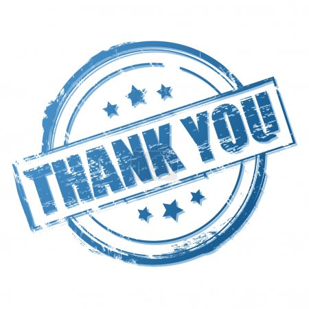 Illustration for Thank you stamp isolated on white. Vector illustration - Royalty Free Image