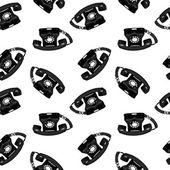 Telephone retro seamless pattern