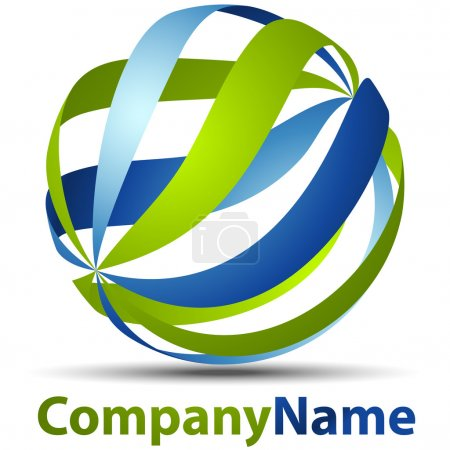 Illustration pour Logo sphère 3D - image libre de droit