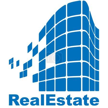 Illustration for Real Estate logo - Royalty Free Image