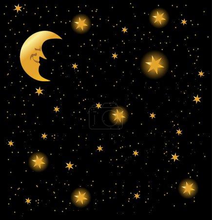 Night sky background, vector