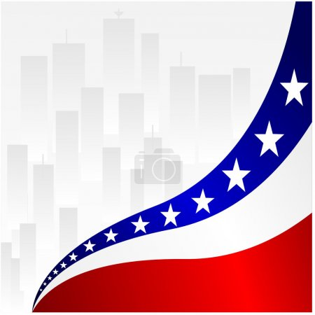 Vector illustration of American Background
