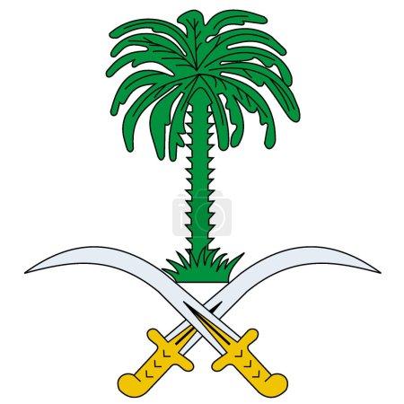Vector national flag of Saudi Arabia