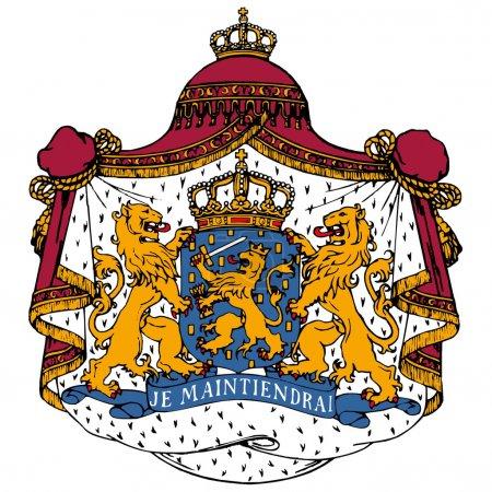 Illustration pour Armoiries vectorielles des Pays-Bas - image libre de droit