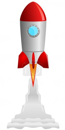 Vector image of the rocket taking off...