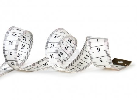 Photo for Tape measure isolated on white - Royalty Free Image