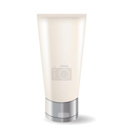 Illustration pour Tube crème isolé sur fond blanc - image libre de droit