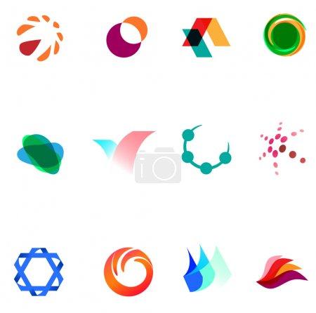 12 colorful vector symbols: (set 26)