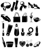 Set of different woman's things