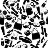 Seamless pattern with woman's things