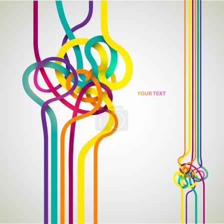 Illustration for Tangled lines - Royalty Free Image