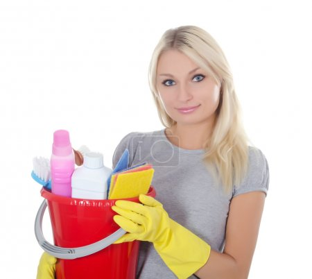 Photo for The portrait of girl - concept Cleaning - Royalty Free Image