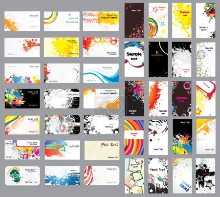 Photo pour Mix collection cartes verticales et horizontales sur différents sujets - image libre de droit