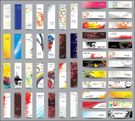 Illustration for Mix Collection vertical and horizontal banners - Royalty Free Image