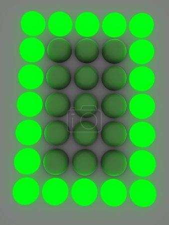 Figure on the electronic display. A zero