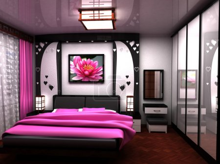 Bedroom. A beautiful interior of a room.