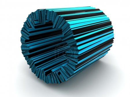 Three-dimensional tube. 3d
