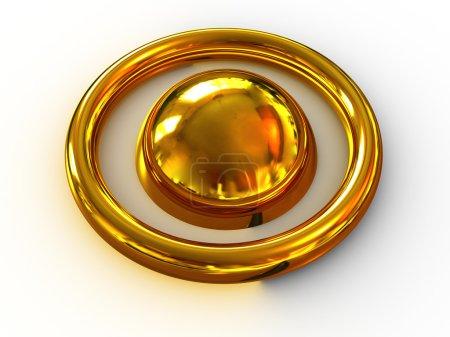 Photo pour Belle sphère tridimensionnelle. 3D - image libre de droit
