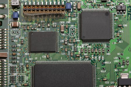 Photo for Electronics. Chips on the printed-circuit-board - Royalty Free Image