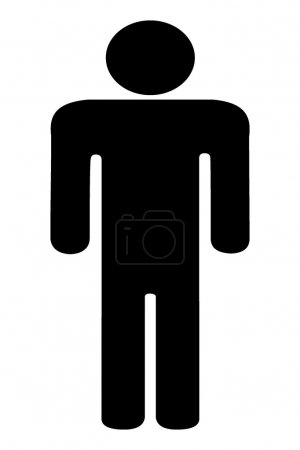 Photo for Silhouette of the person. 3d - Royalty Free Image