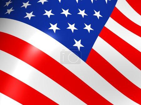 Photo pour L'american flag 3d - image libre de droit