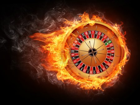 Photo for Casino Roulette Isolated on White Background EPS8. - Royalty Free Image