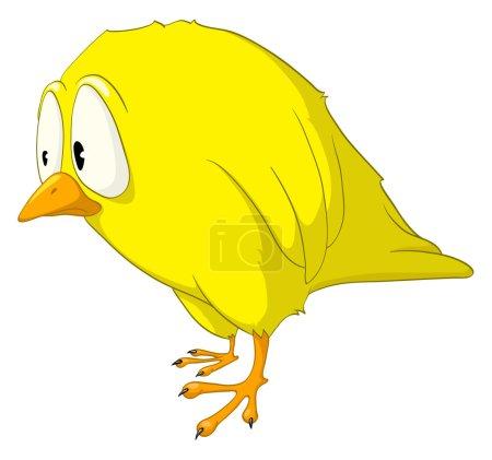 Cartoon Character Melancholy Bird