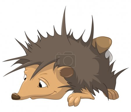 Illustration for Cartoon Character Hedgehog Isolated on White Background. Vector. - Royalty Free Image