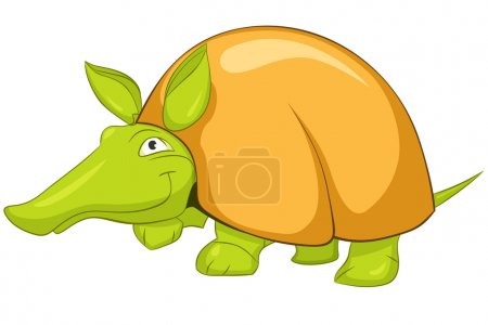 Illustration for Cartoon Character Armadillo Isolated on White Background. Vector. - Royalty Free Image