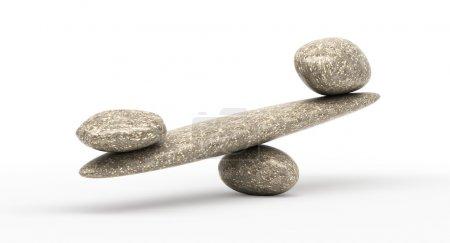 Photo pour Quelque chose de puissant : Échelles de stabilité de cailloux avec de grandes et petites pierres - image libre de droit