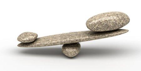 Photo pour Équilibrage : Balances de stabilité de cailloux avec petites et grandes pierres - image libre de droit