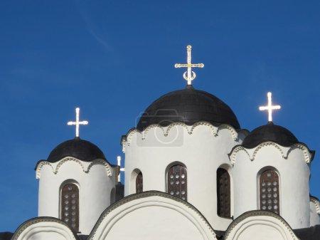Foto de Templo ortodoxo en gran novgorod - Imagen libre de derechos