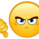 Dislike emoticon...