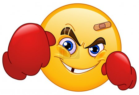 Illustration for Boxer emoticon - Royalty Free Image