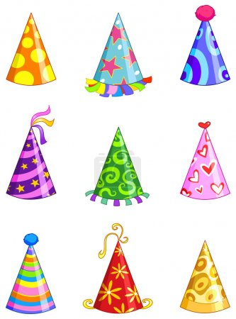 Illustration for Party hat set - Royalty Free Image