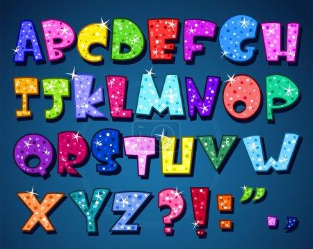 Illustration pour Alphabet mousseux - image libre de droit