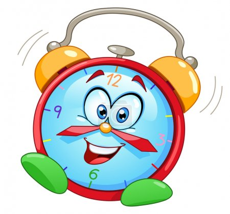 Illustration for Cartoon alarm clock - Royalty Free Image