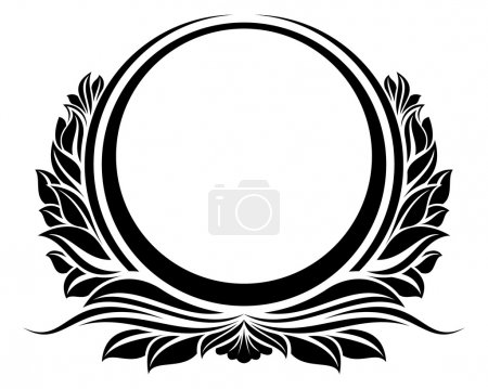 Illustration for Black circle frame - Royalty Free Image