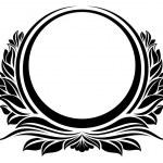 Black circle frame...