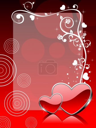Vector love theme greeting card