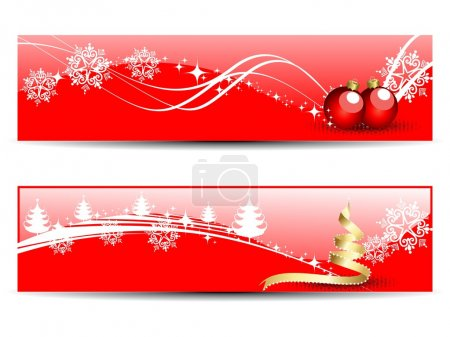 set of two headers & banners of Christmas