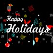 Artistic vector with party element for happy holid...