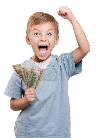 Boy with dollars