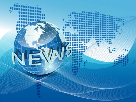 Illustration pour Globe texture illustration sur le net comme fond bleu - image libre de droit