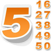Numbers Vector illustration