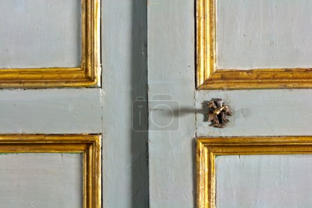 Old door decorated with gold...