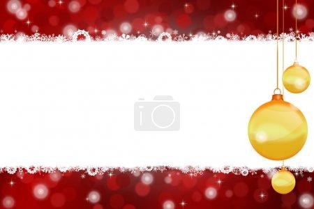 Photo pour Illustration de fond de Noël pour salutations et décorations - image libre de droit